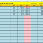 Planilha de Contas a Pagar – (Download)